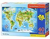 Mappa del Mondo, Puzzle 40 Pezzi Maxi