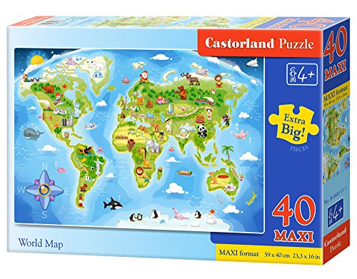 Castorland al mejor precio de amazon en savemoney castorland world map premium maxi jigsaw 40 piece gumiabroncs Gallery