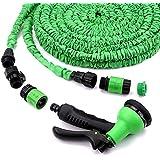 Uten® 25/50/75/100FT Flexischlauch Flexibler Gartenschlauch Wasserschlauch Dehnbar Erweiterbar (15m/30m) mit Variante Multifunktionskopf (100FT/30M - Grün)