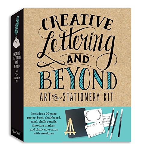 Creative Lettering and Beyond Art & Stationery Kit: Includes a 40-page project book, chalkboard, easel, chalk pencils, fine-line marker, and blank note cards with envelopes (Creative...and Beyond) por Gabri Joy Kirkendall