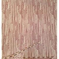 Suelo de tatami (tono madera/negro), grosor 2 cmts.y 1 x 1 m.