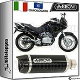 Arrow Auspuff Hom Thunder Aluminium Dark Carby Honda XL 125-v Varadero 20010152503AKN
