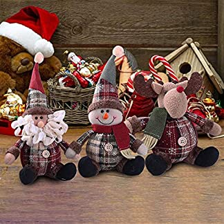 AITOCO Muñeca de la decoración de la Navidad, Estilo Encantador de Santa/Snowmen / Elk para el árbol de Navidad Que cuelga o el Regalo del niño