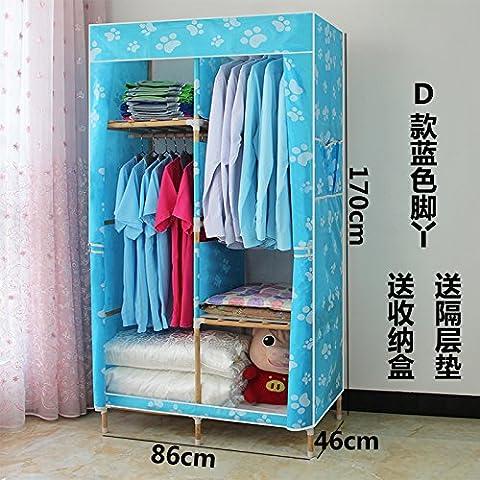 WJP modernos armarios simplificada de tela de refuerzo de bricolaje armario ropero W-435