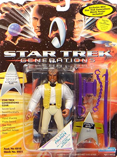 PlayMates lieutenant Commander worf in 19th Century Outfit – Star Trek VII Generations von