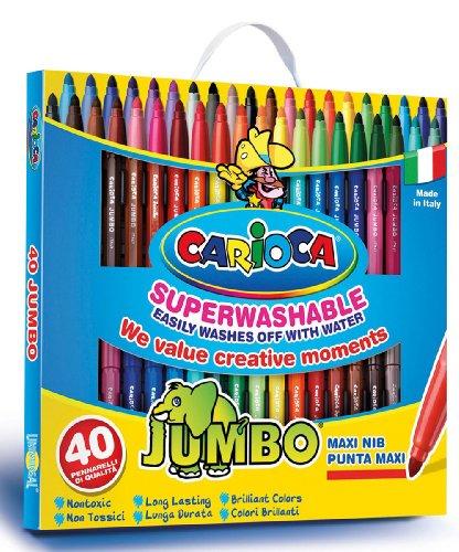 Carioca Jumbo 40 Filzstifte, leicht abwaschbar
