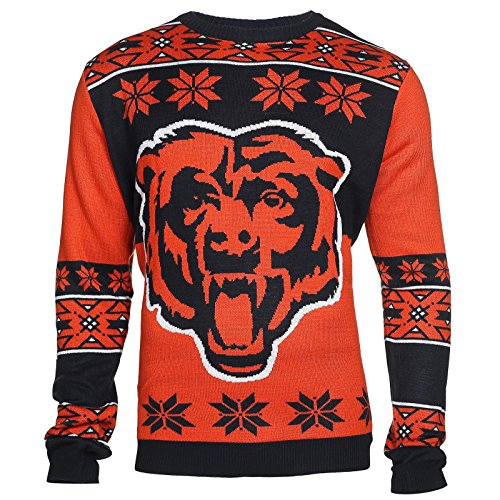 NFL Ugly Sweater/Pullover Christmas Chicago Bears Big Logo in XXL (2XL)