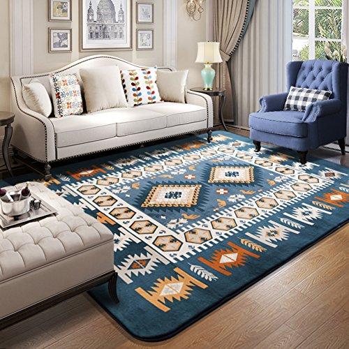 Faux pelz schaffell stil teppich, Faux fleece flauschige bereichswolldecken, Sitzpolster, Dekorative teppiche, Moderne matten,Anti-rutsch verdickung, Europäische nacht bett decke für wohnzimmer schlafzimmer sofa floor rectangle -A 100x150cm(39x59inch) (Zeitgenössische Traditionellen Sofa)