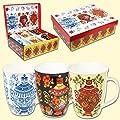 6 Tassen SET Tasse Becher Samowar als Geschenk