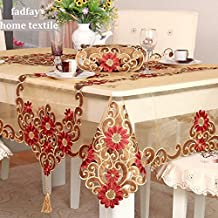 FADFAY Home Textile, Fashion oro paño de tabla, mantel bordado delicado, estilo real