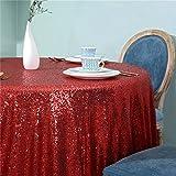 Zdada rosso frizzante glitter paillettes tovaglia paillettes di biancheria da tavola per festa di nozze elegante evento banchetto tavolo rotondo con decorazione in 182,9cm