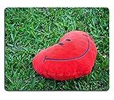 luxlady Gaming Mousepad imagen ID: 18370827Big Love forma de corazón almohada en verde hierba