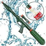 WISHTIME Super Bazooka Soaker Pistole Wasserspritze für Schraubverschluss mit Abnehmbarer Pistole (Upgrade auf Cola Flasche) für Erwachsene, Kinder