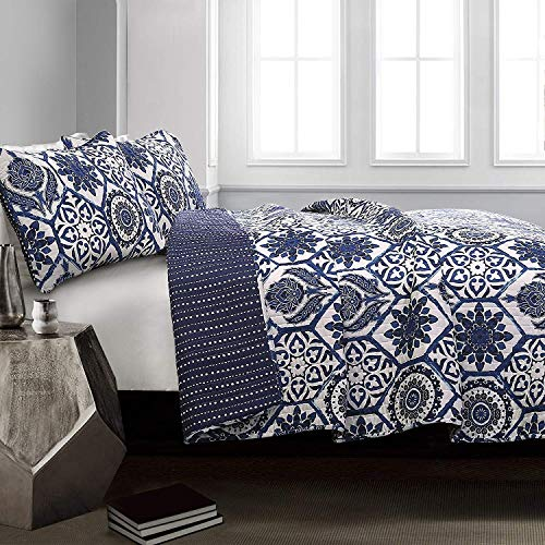 Marvel Quilt Navy 3Pc Set Full/Queen