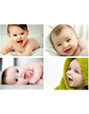 MANIAL Set of 4 Cute Baby Combo Posters | Smiling Baby Poster | Poster for Pregnant Women | HD Baby Wall Poster for Room Decor (12x18-Inches, 300GSM Thick Paper, Gloss Laminated, Multicolour)