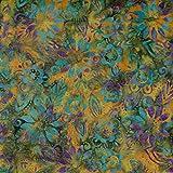 Kürbis Flourish Design 100% Baumwolle Bali Batik tie dye Muster Stoff für Patchwork, Quilten &,–(Preis pro/Quarter Meter)