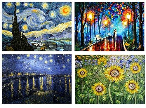Juego de 4salvamanteles de Vincent van Gogh