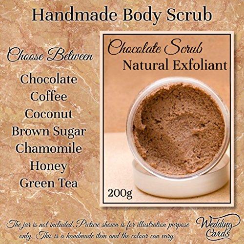 Homemade Organic Coffee Chocolate Green Tea Brown Sugar Coconut Oil Vitamin E Face and Body Scrub