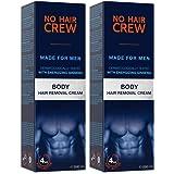 2 X NO HAIR CREW Premium Ontharingscrème Voor Mannen - Effectieve en Zachte Ontharing Voor Het Lichaam (2 x 200 ml)