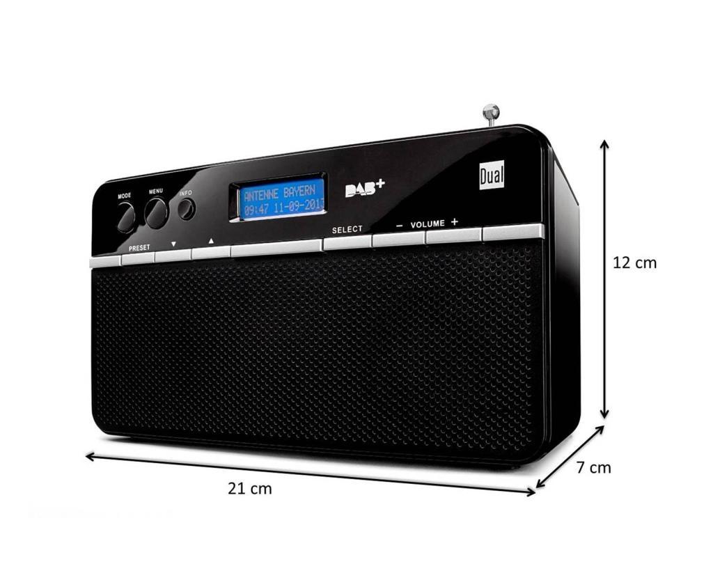 dual dab 18 portables digitalradio dab ukw pll rds. Black Bedroom Furniture Sets. Home Design Ideas