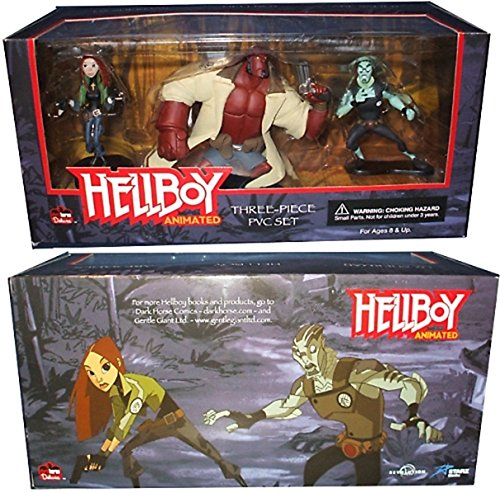HELLBOY animated 3 non-articulated figures 7,5cm - 13cm