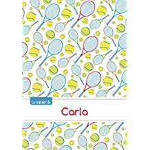Le cahier de Carla - Blanc, 96p, A5 - Tennis