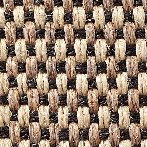 Teppichboden Auslegware | Sisal Naturfaser Schlinge | 400 cm Breite | natur schwarz | Meterware, verschiedene Größen | Größe: 1 Muster