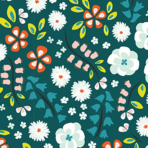 Tessuto jersey-floreale giardino verde-Tessuto lavorato a maglia-CLOUDJ01-da 0.5metre 50cm x 140cm-by cloud 9tessuti-100% cotone organico certificato Interlock Knit (floreale giardino verde-Tessuto lavorato a maglia CLOUDJ01)
