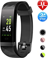 Letsfit Fitness Armband Farbbildschirm mit Pulsmesser, Fitness Tracker IP68 Wasserdicht 0,96 Zoll Aktivitätstracker...