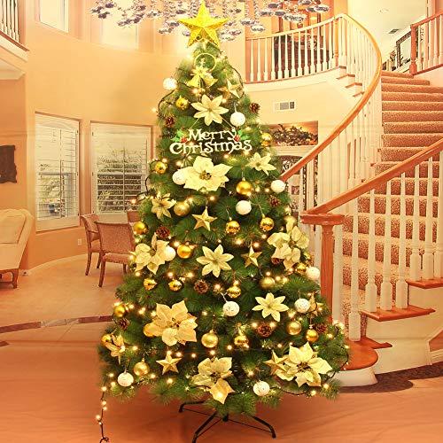 CYWYQ Künstlicher Weihnachtsbaum, Gefälschte Weihnachtsbaum mit ERN In Stand 5 Flash-modi Mit metallständer Feel-real Folding-G 120cm(47inch)