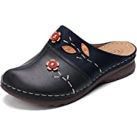 gracosy Sandales Femme, Sabots Mules en Cuir PU Pantoufle Plage Tongs Eté Chaussures Jardinage Maison avec Semelle…