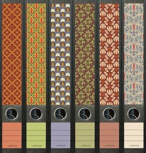 6er Set Ordnerrücken für schmale Ordner Pattern Muster Ordner Aufkleber Etiketten Deko 608