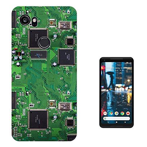 """Preisvergleich Produktbild 000701 - Circuit Motherboard Chip Retro Design Google Pixel 2 XL 6.0"""" Fashion Trend Silikon Hülle Schutzhülle Schutzcase Gel Silicone Hülle"""