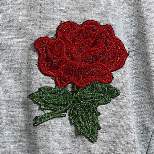 Kword Felpe Tumblr Ragazza, Fashion Design Donna Manica Lunga Felpa Rosa Stampa Casual Tops Magliette Tumblr 3#