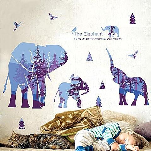 Aufkleber Nette Elefanten Tier Abnehmbare 3D Visual DIY Wandaufkleber Home Decor Schlafzimmer Wohnzimmer Abziehbild Vinyl Wand Wand Wandaufkleber