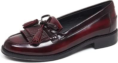 Tod's F3296 Mocassino Donna Bordeaux Scarpe Loafer Shoe Woman