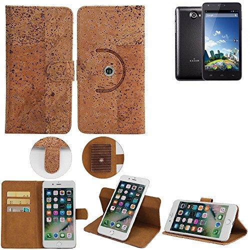 K-S-Trade Schutz Hülle für Kazam Trooper 2 5.0 Handyhülle Kork Handy Tasche Korkhülle Schutzhülle Handytasche Wallet Case Walletcase Flip Cover Smartphone