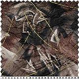Panne-Samt, mehrfarbig/schwarz-gold, 145 cm breit,