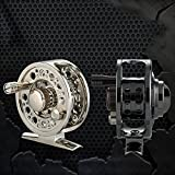 #5: Ocamo Aluminum Alloy Front Wheel Force Relief Light Weight Practical FL60 Raft Fly Fishing Reel
