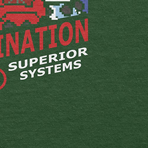TEXLAB - Extermination 8 Bit System - Herren T-Shirt Flaschengrün