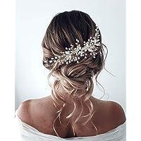 Unicra - Accessorio per capelli da sposa con fiore di vite, per donne e ragazze