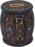 TnW Handmade Wooden Barrel Money Piggy Bank Coin Box Birthday Gifts for Kids