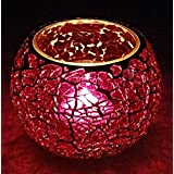 Rajasthani Decorative Glass Table Candle Holders Centerpiece