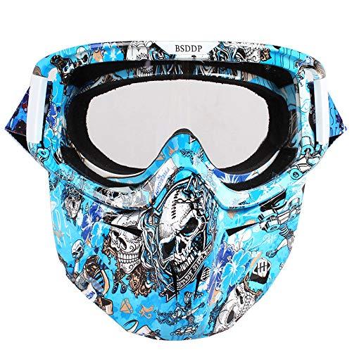 Reiten winddichte Sandschutzbrille Retro Harley Helmmaskenbrille wie abgebildet