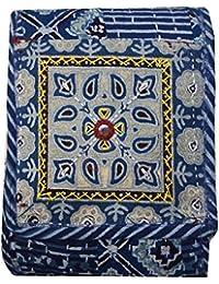 Srijanavari Handmade Designer Embroidered Rajasthani Clutch Bag For Women's(blue)
