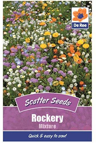 2 Packs of Rockery Mixture Scatter Flower Seeds, Approx 250 seeds per pack, 500 in total!