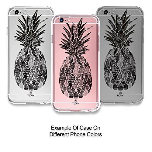 True Color Watercolor CLEAR Shield Tribal Monochrome Pineapple
