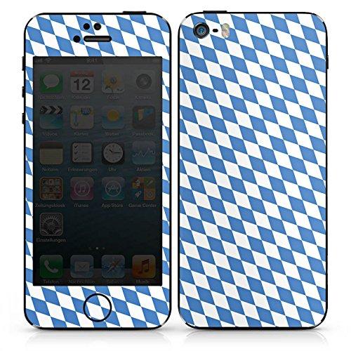 Apple iPhone SE Case Skin Sticker aus Vinyl-Folie Aufkleber Bayrische Flagge Bayern Fahne DesignSkins® glänzend