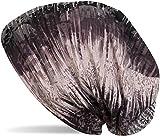 styleBREAKER Beanie Mütze mit Vintage Streifen Flecken Muster, Slouch Longbeanie, Unisex 04024119, Farbe:Flieder