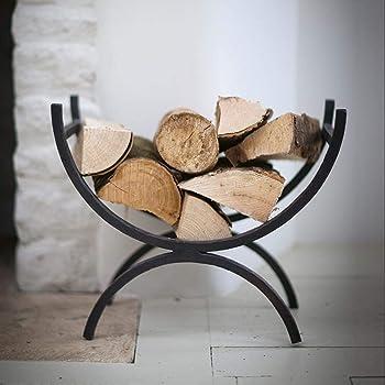 Relaxdays Firewood Basket, Large Fireplace Wood Cradle, Metal Log Holder,  ...